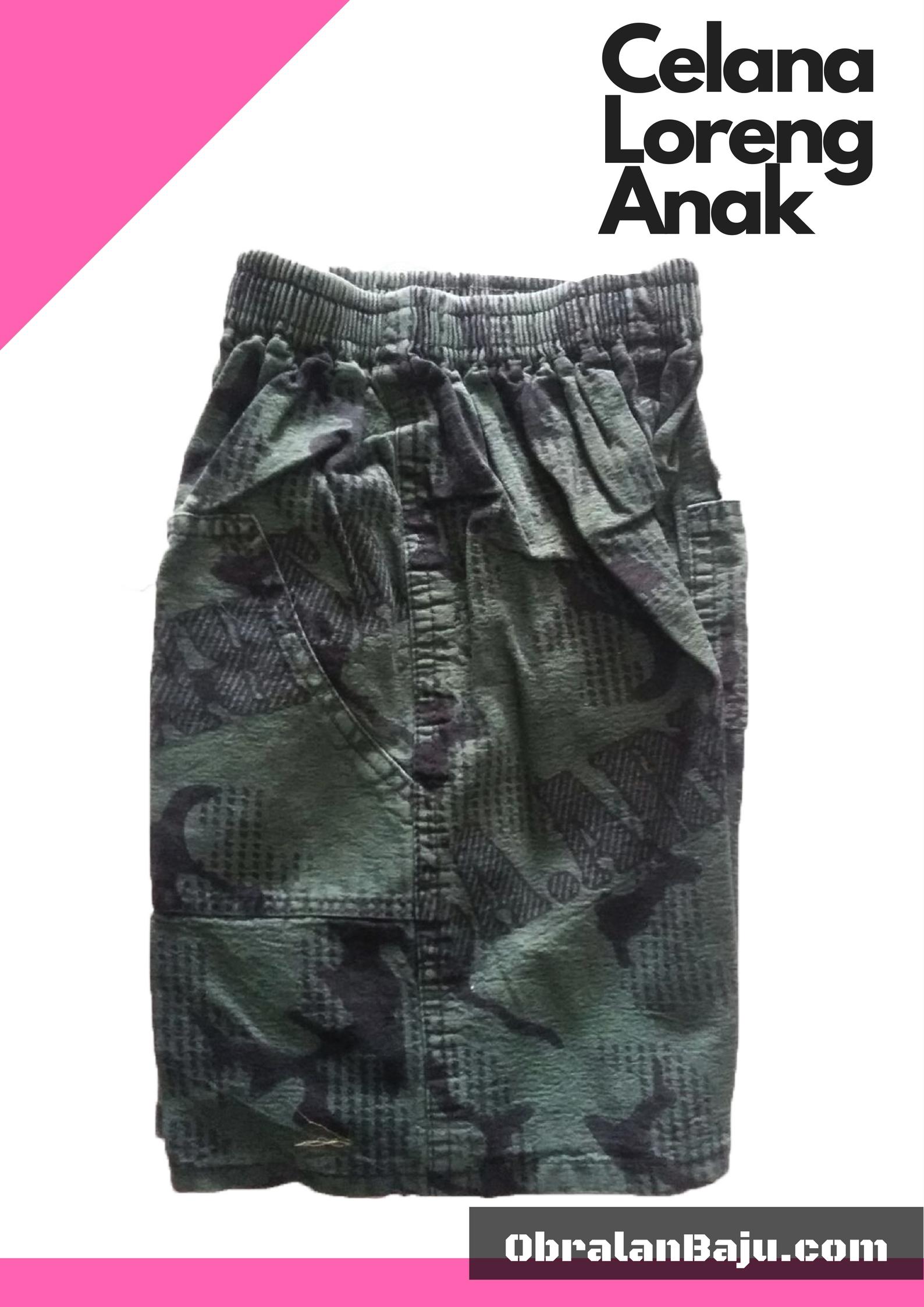 obral celana anak motif loreng