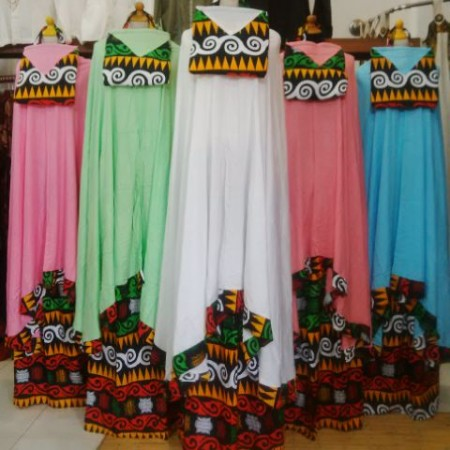 Model Mukena Etnik Songket murah
