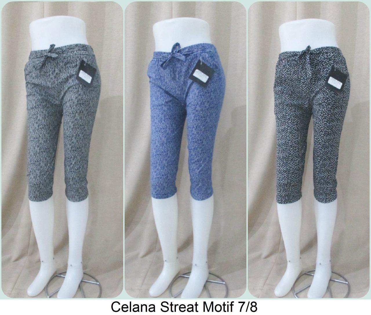 ObralanBaju.com Celana Stretch Motif 7/8