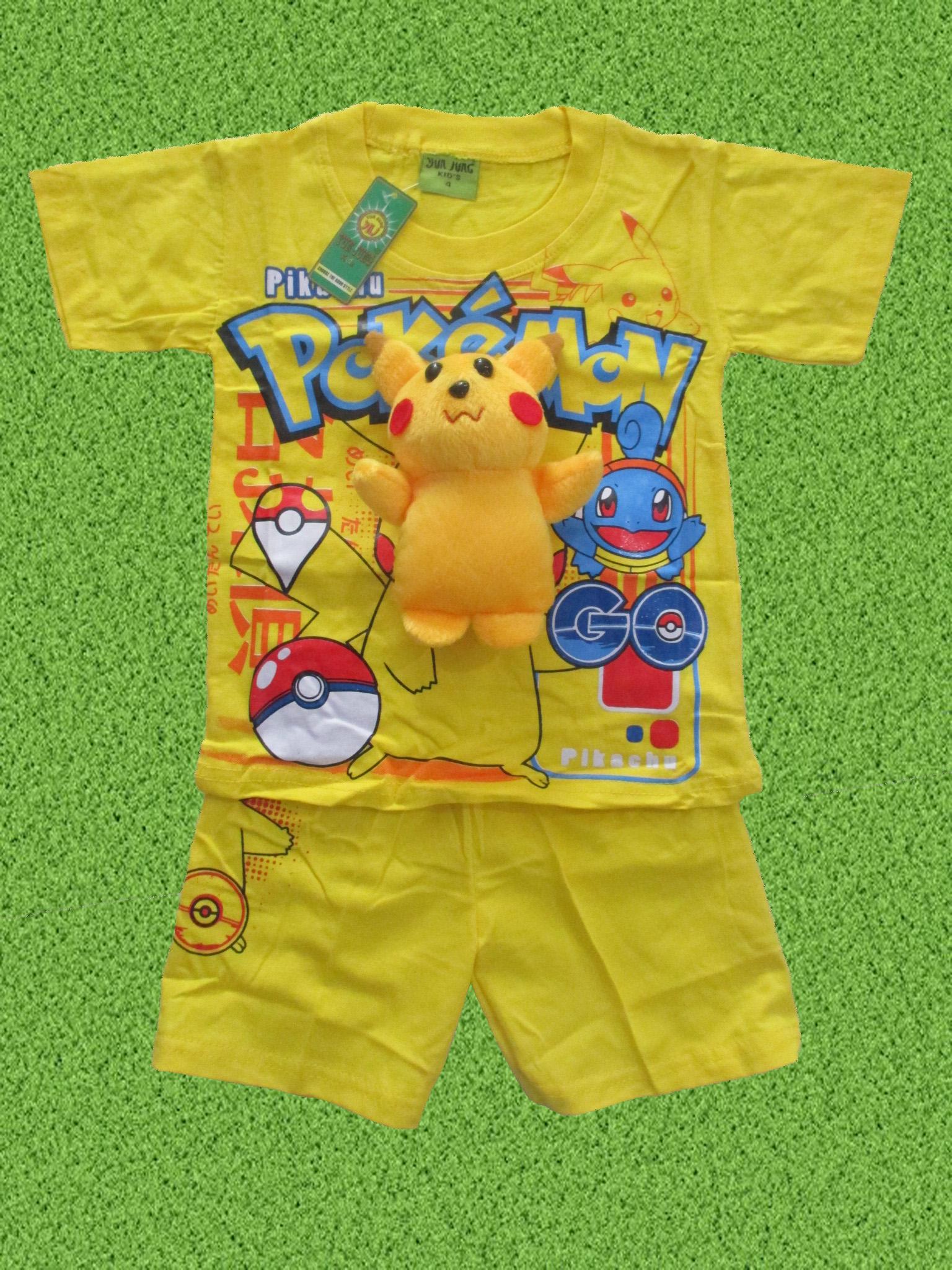 setelan baju anak pokemon