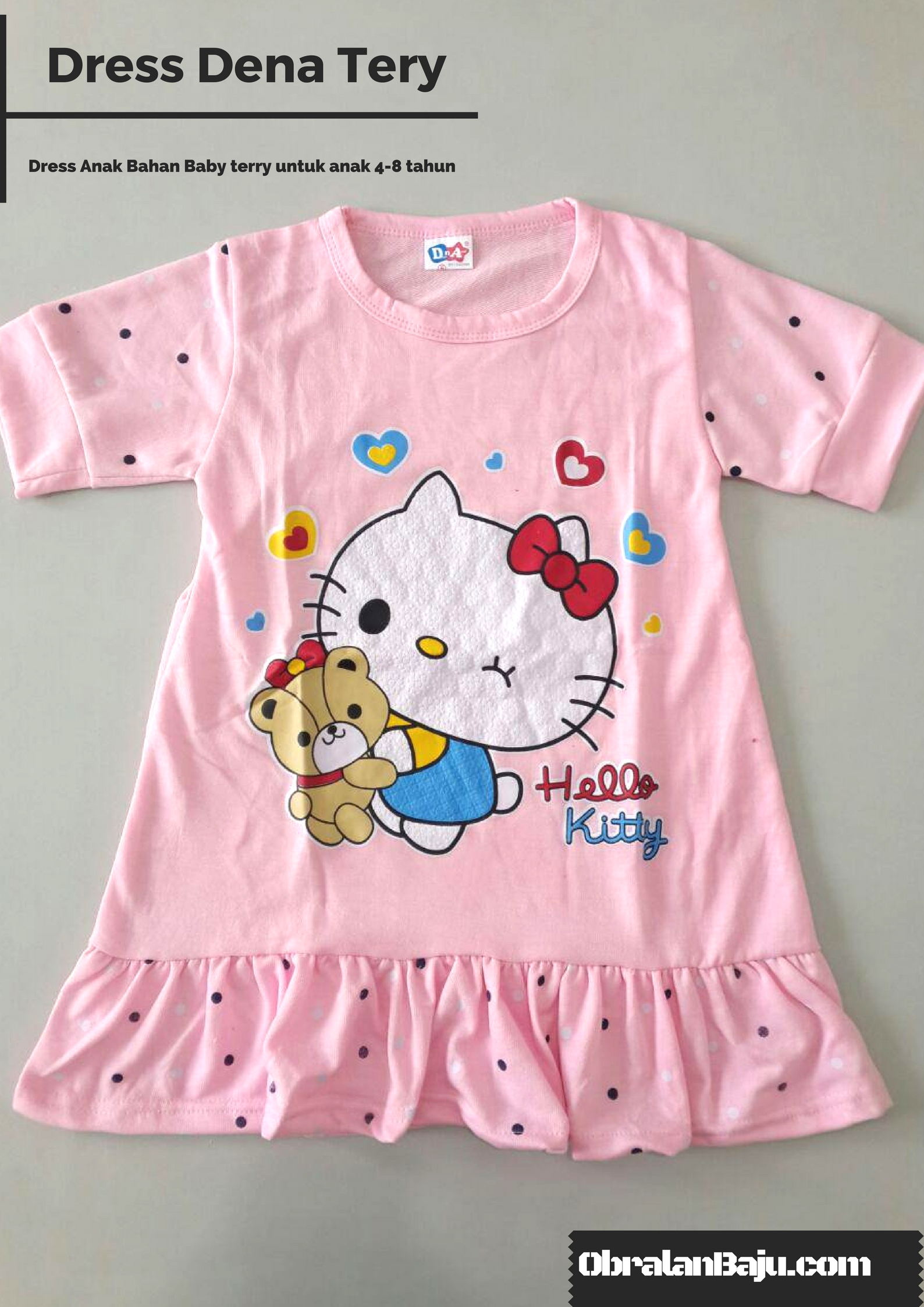 obral dress branded anak