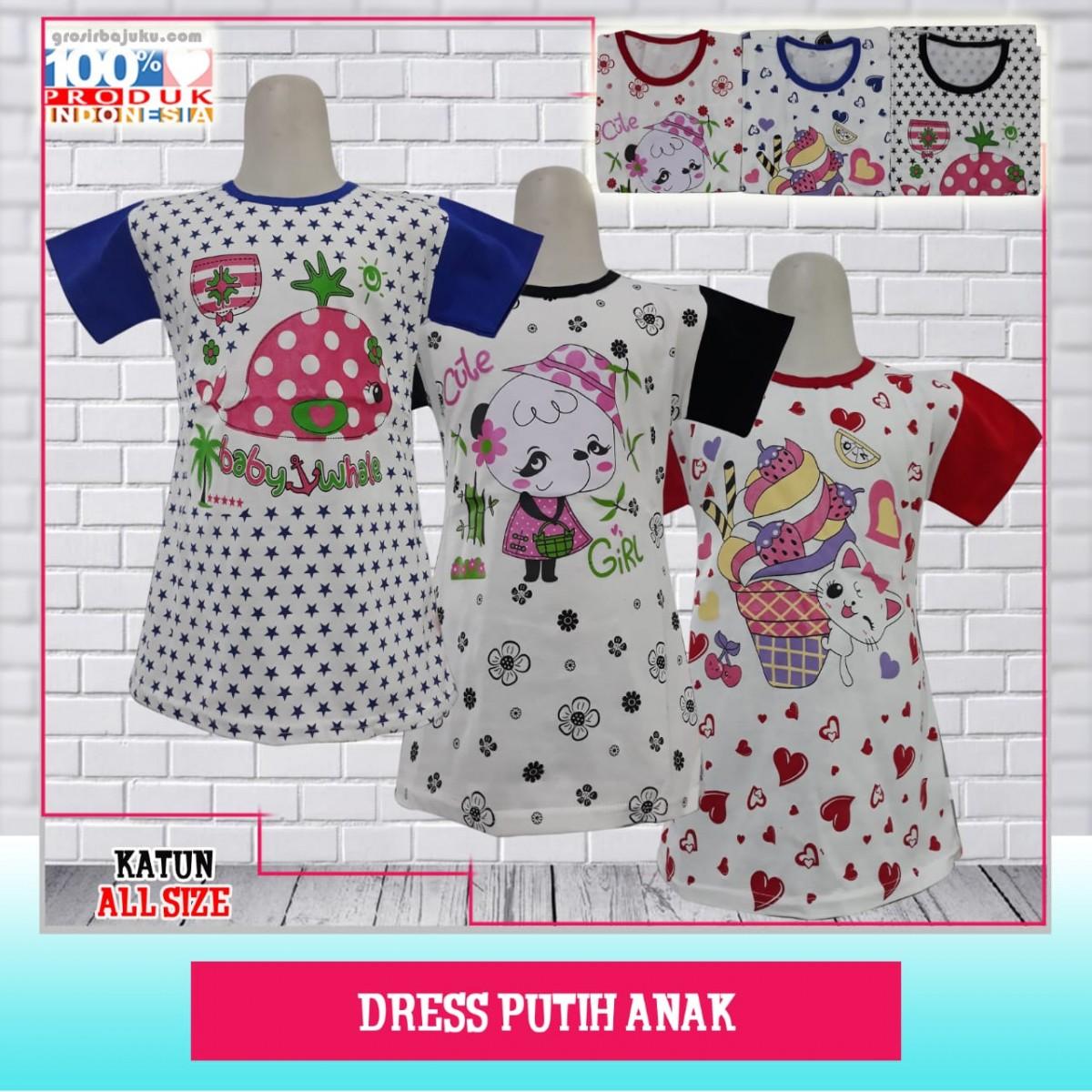 ObralanBaju.com Dress Putih Anak Murah