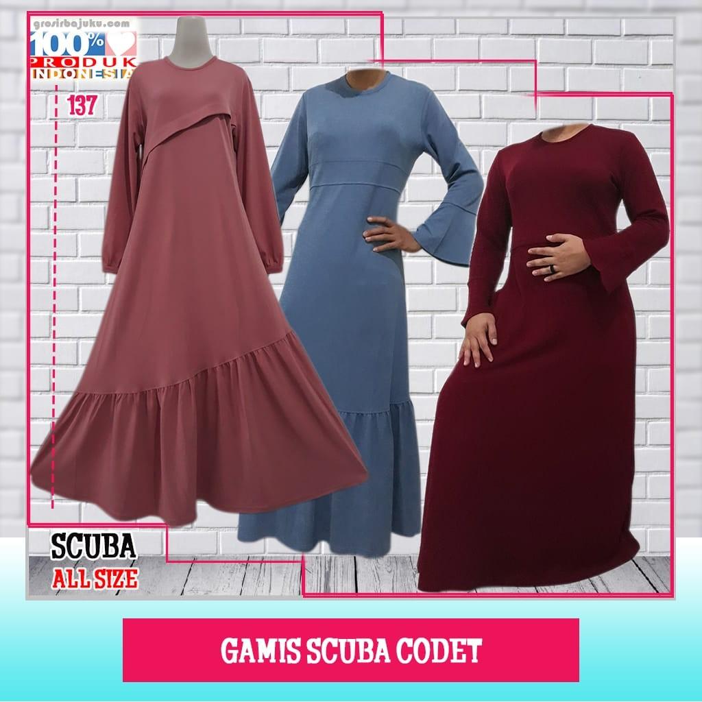 ObralanBaju.com Gamis Scuba Codet