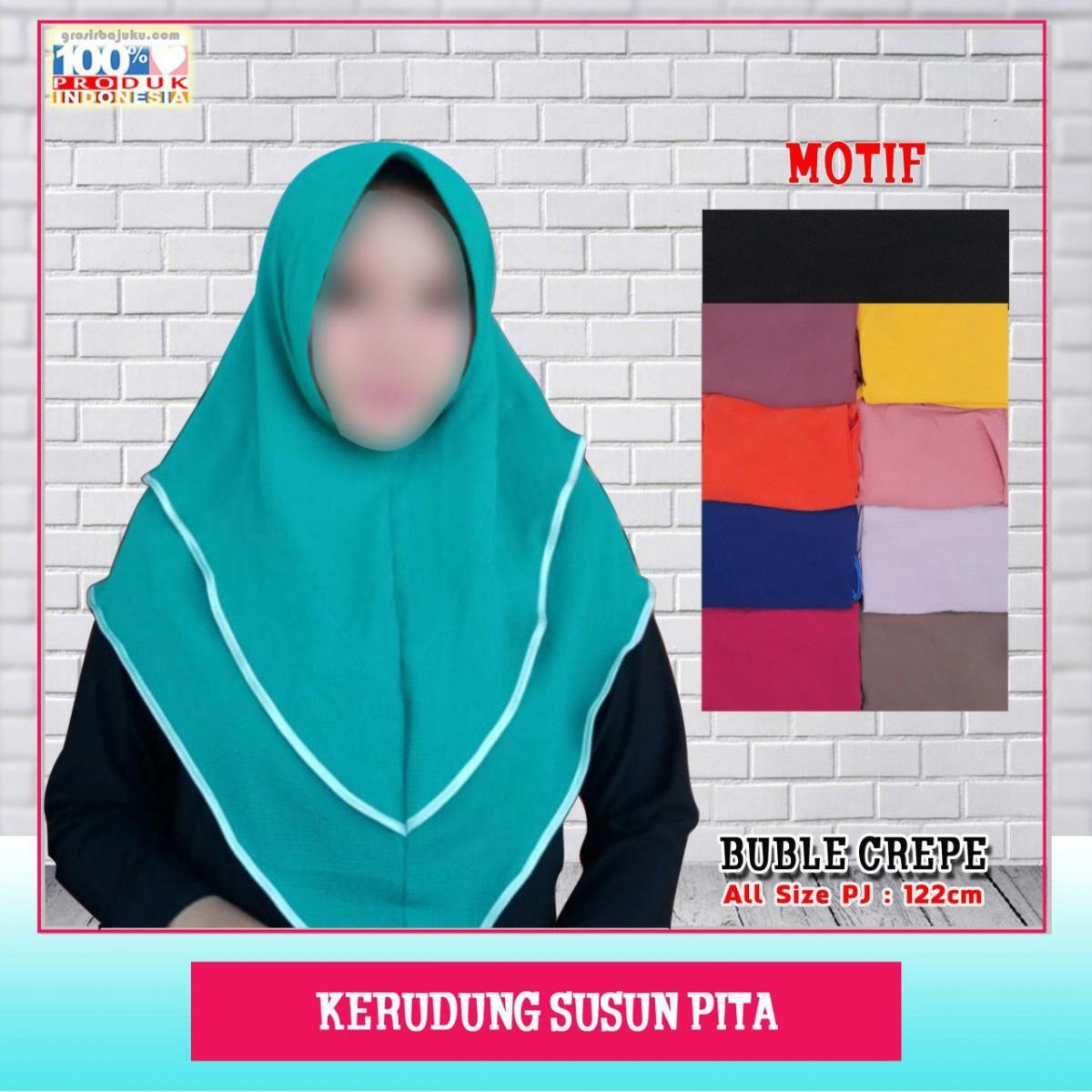 ObralanBaju.com Kerudung Susun Pita