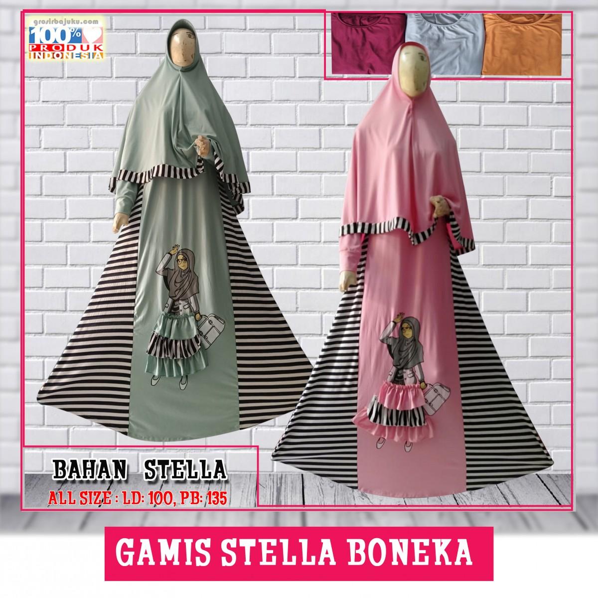 ObralanBaju.com Gamis Stella Boneka