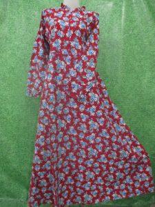 gamis katun jepang motif bunga