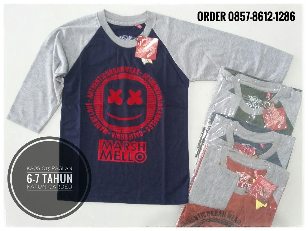 ObralanBaju.com Obral Baju Pakaian Murah Meriah 5000 Kaos C15 Raglan