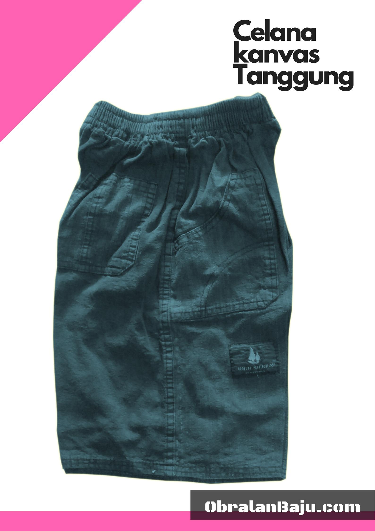 ObralanBaju.com Obral Baju Pakaian Murah Meriah 5000 Celana Kanvas Tanggung