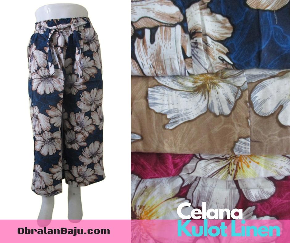 ObralanBaju.com Obral Baju Pakaian Murah Meriah 5000 Celana Kulot Linen