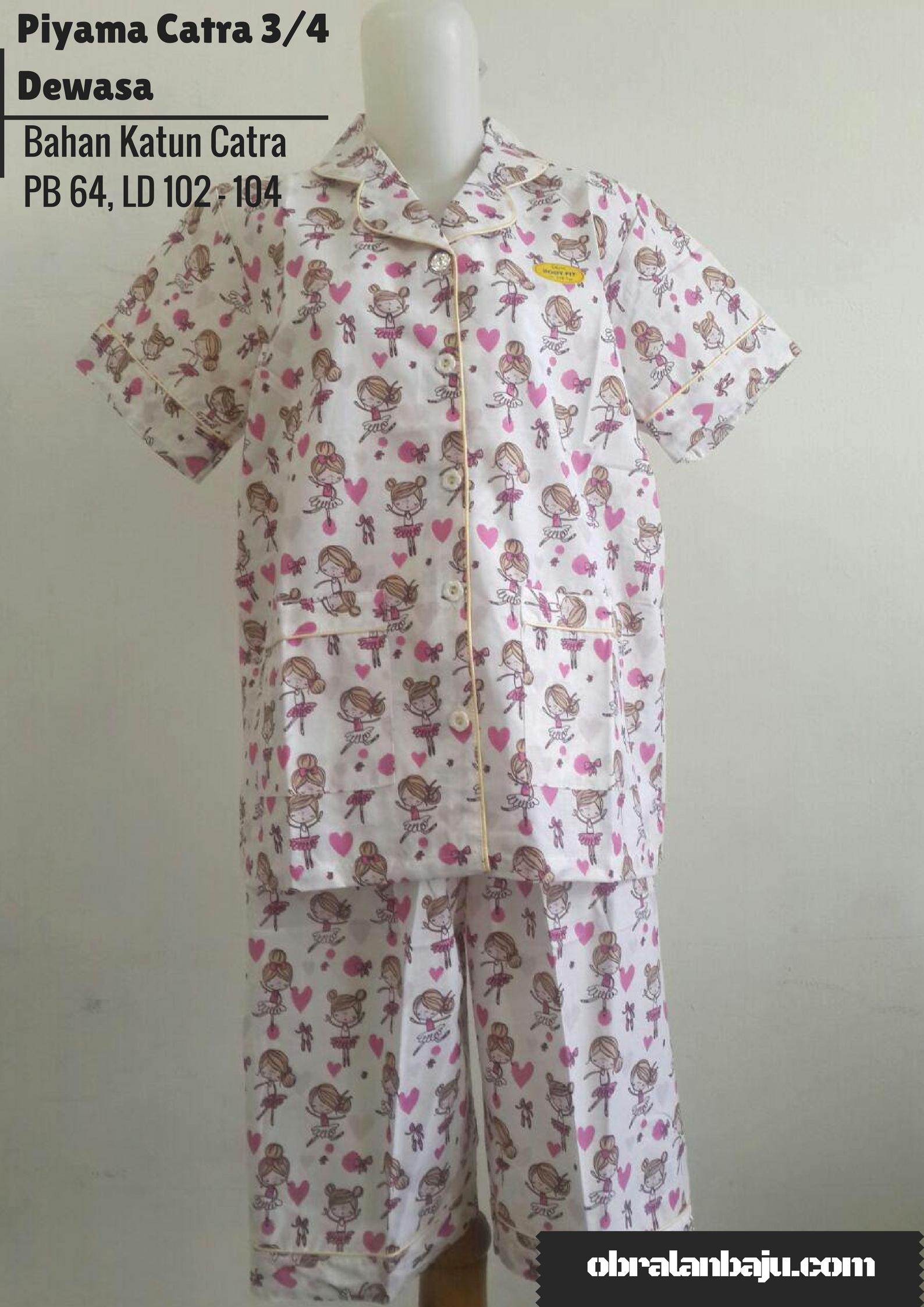 ObralanBaju.com Obral Baju Pakaian Murah Meriah 5000 Piyama Catra 3/4 Dewasa