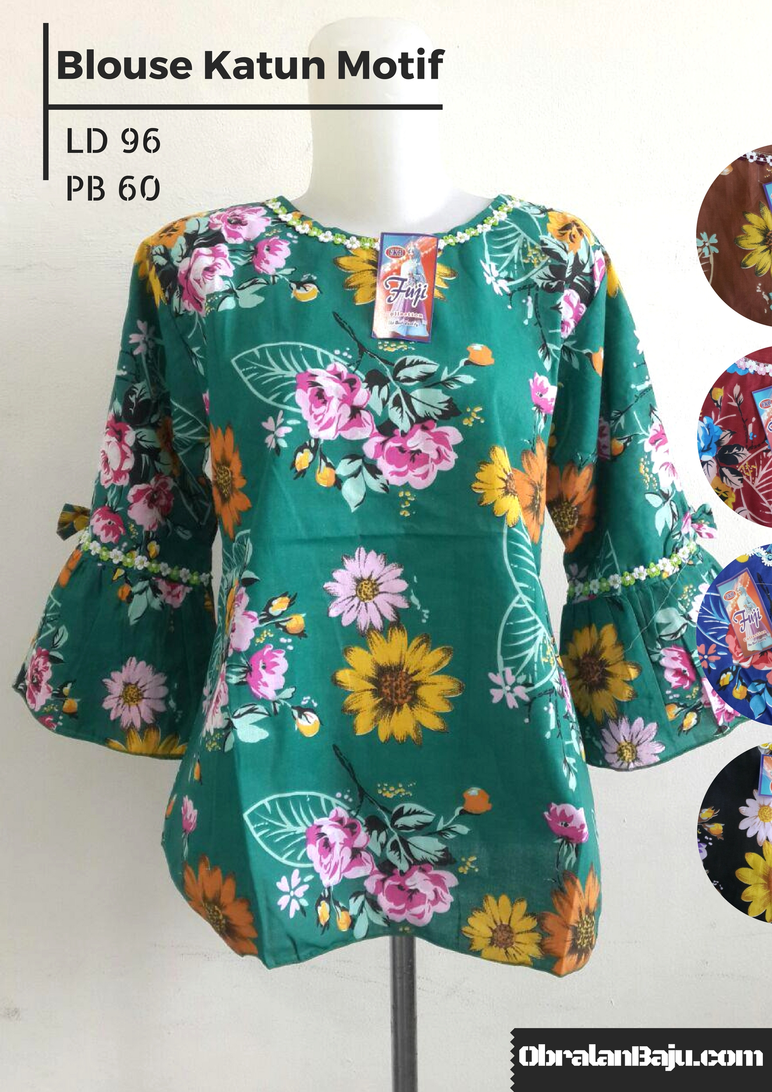 produsen dress katun murah