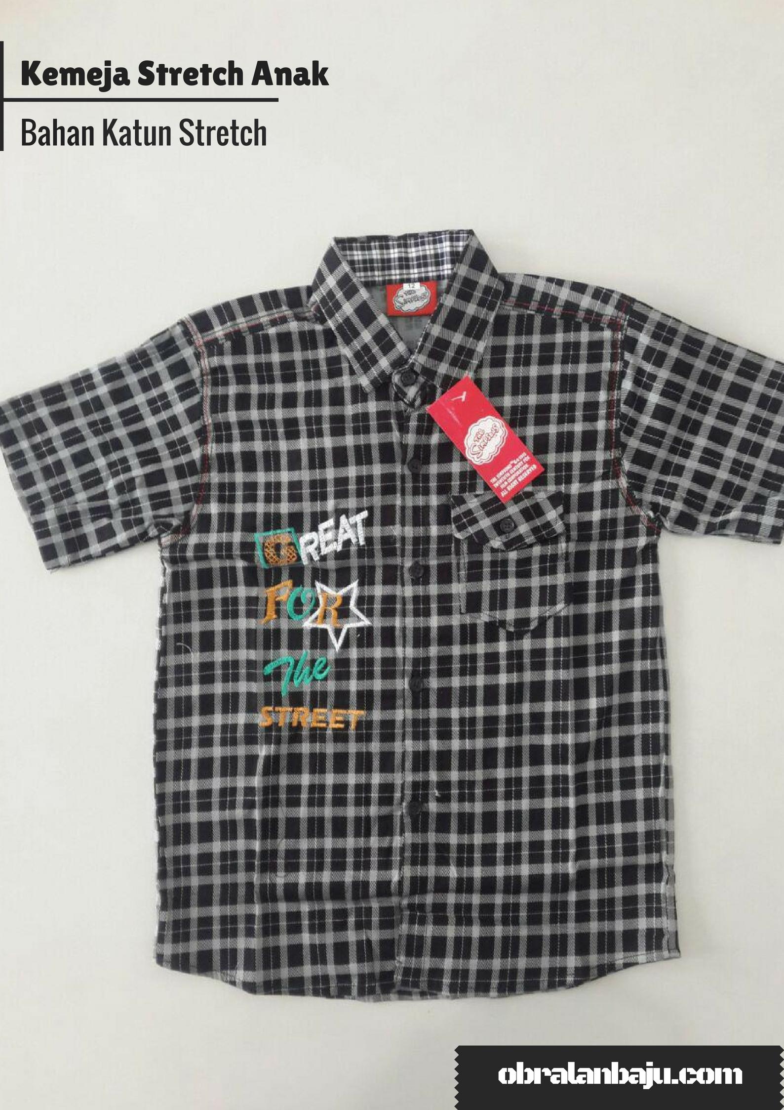 ObralanBaju.com Obral Baju Pakaian Murah Meriah 5000 Kemeja Stretch Anak