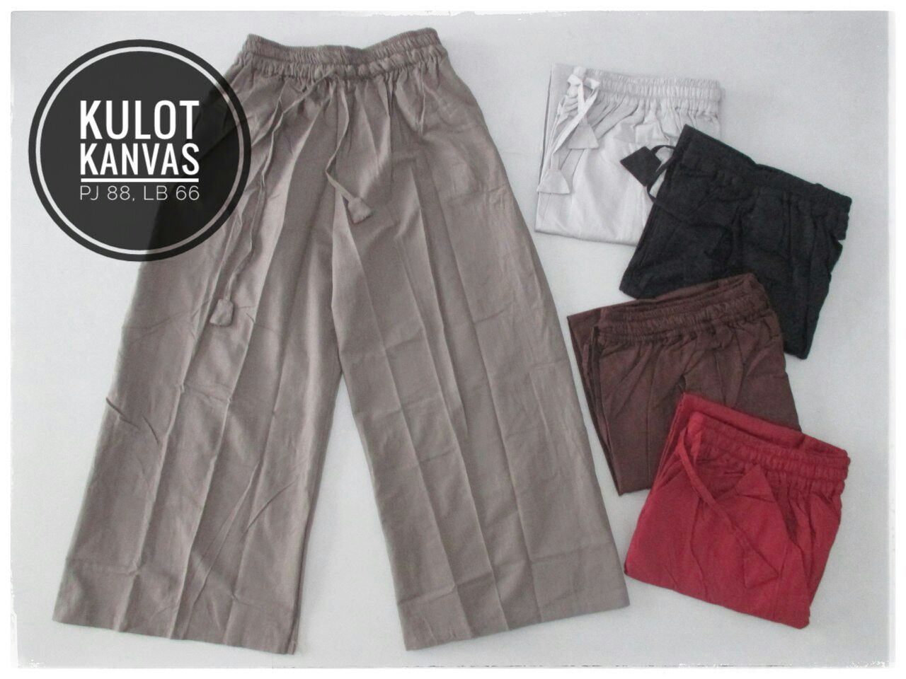 ObralanBaju.com Obral Baju Pakaian Murah Meriah 5000 Celana Kulot Kanvas
