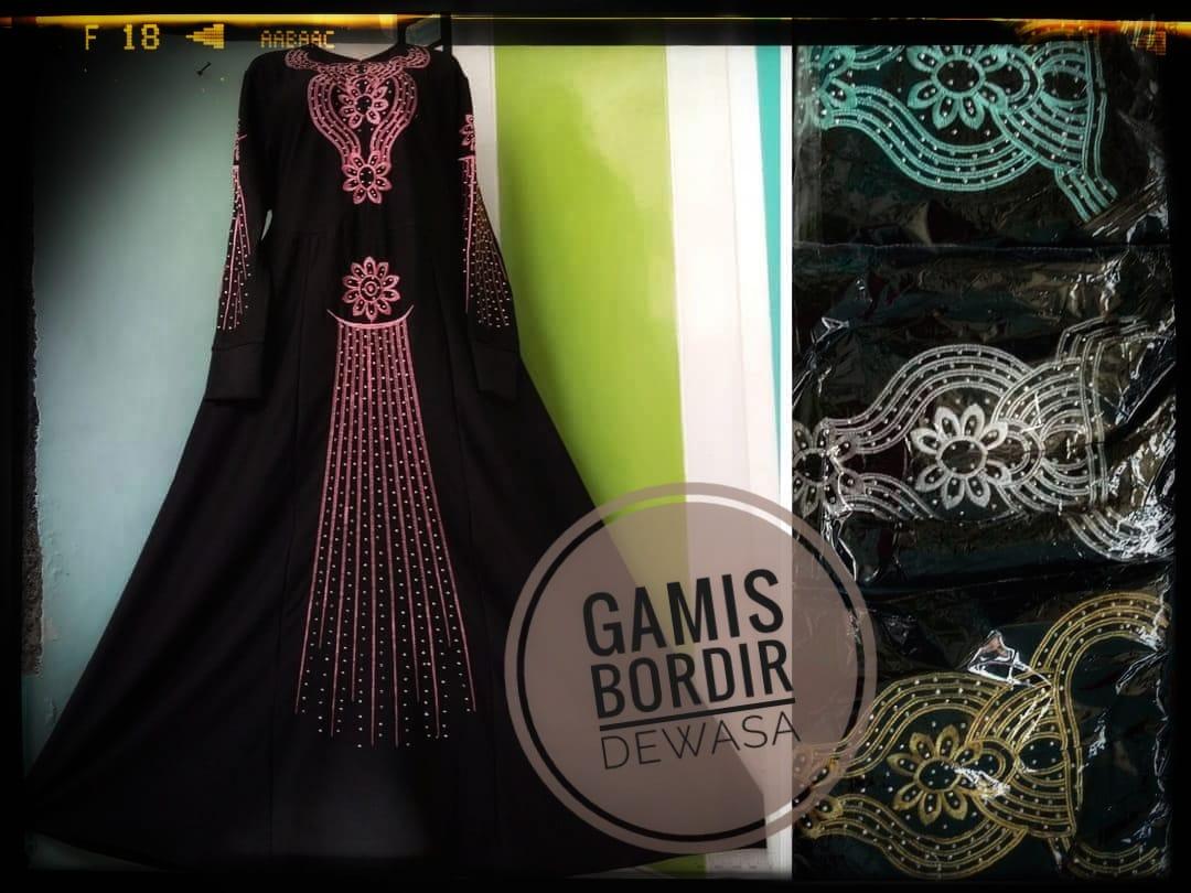 ObralanBaju.com Gamis Bordir Dewasa