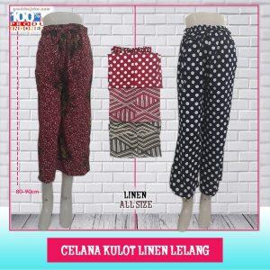 ObralanBaju.com Obral Baju Pakaian Murah Meriah 5000 Celana Kulot Linen Lelang
