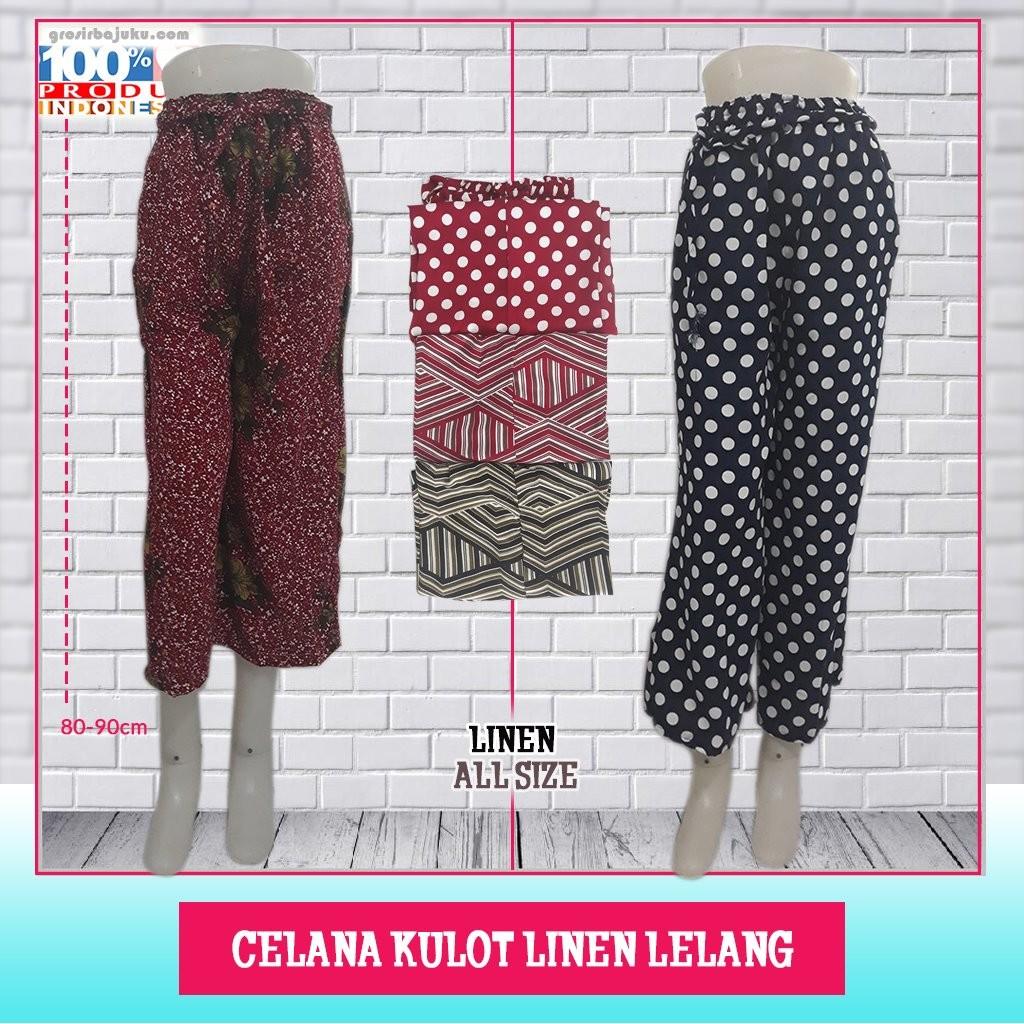 ObralanBaju.com Celana Kulot Linen Lelang