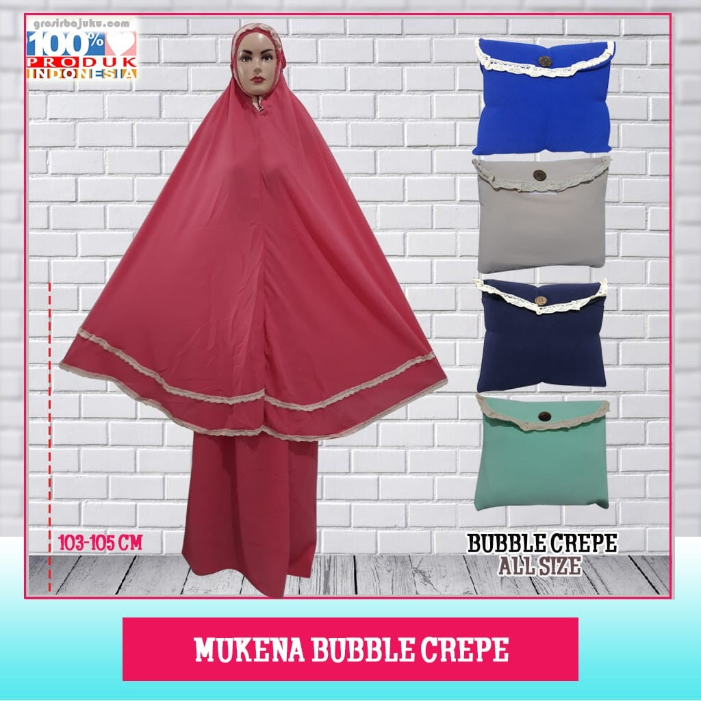 Mukena Bubble Crepe