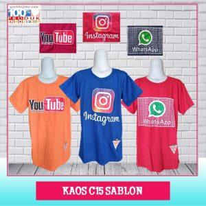 ObralanBaju.com Kaos C15 Sablon