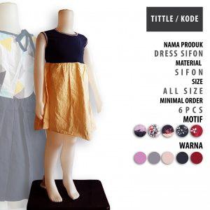Konveksi Dress Sifon Anak Murah